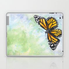"""Papillon Monarque / Monarch Butterfly"" Laptop  iPad Skin by Savousepate - $25.00"