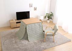 メルカリ商品: お得な3点セット!継脚高座椅子&こたつテーブル70cm幅&こたつ布団セット!NA #メルカリ
