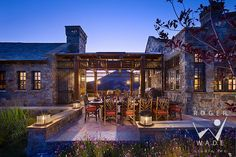Texas Ranch style...love, love, love this! The materials, the space, the landscape...