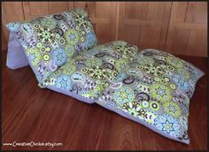 Modern Floral Pillow Bed Girl Pillow Bed Pillow by CreativeChickie ideas for Lily's birthday presents