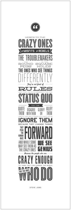 """Amazon.com: Steve Jobs Poster """"Here's to the Crazy Ones"""" Quote. 12""""x36"""" Motivational and Inspirational Wall Decor Poster Print. Apple Think Different Poster.: Posters & Prints"""