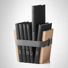 Christoffer Martens' Book Binder are the only pair of bookends we've seen that lets you organize books even without a bookshelf.