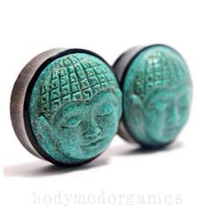 Hey, I found this really awesome Etsy listing at https://www.etsy.com/listing/188732128/buddha-head-turquoise-plugs