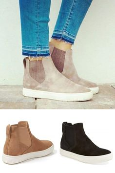 Visit Bonnieshoes official shop for top-rated sneakers - Bonnieshoes Casual High Top Suede Sneakers. Suede Sneakers, Casual Sneakers, Casual Shoes, Trendy Shoes, Casual Outfits, Fly Shoes, Cute Shoes, Me Too Shoes, High Heel Boots