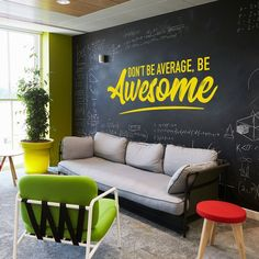 Quotes Discover Be Awesome Wall Decal Office Wall Art Office Decor Office Wall Decal Office Wall Decor Awesome Decal Office Decals Motivational Art Be Awesome Wall Decal Office Wall Art Office Decor Office Office Wall Design, Office Interior Design, Home Office Decor, Office Interiors, Office Wall Colors, Cool Office Space, Office Wall Graphics, Office Wall Decals, Office Walls