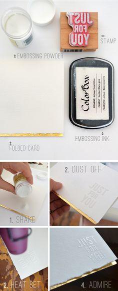Greting Card DIY : embossing : BeautifulHelloBlog.com