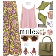 Slip 'Em On: Mules by hamaly on Polyvore featuring moda, Topshop, RED Valentino, Boyy, Oscar de la Renta, tarte, Laura Ashley, outfit, ootd and mules