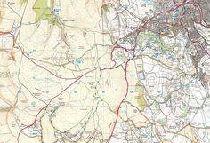 Buxton, Goyt Valley & Axe Edge Moor - back of the map
