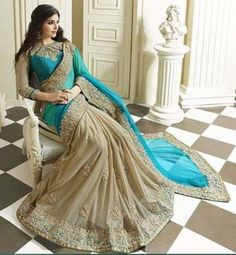 Saree Wedding Party wear Pakistani Lehenga Indian New Designer Sari Georgette Sarees, Silk Sarees, Kurti, Indian Sarees, Pakistani Lehenga, Lehenga Saree, Georgette Fabric, Anarkali Suits, Pakistani Dresses