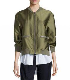 3.1 Phillip Lim Bomber Jacket Satin Bomber Jacket, Designer Bomber Jacket,  Bomber Jackets, f83761567f3