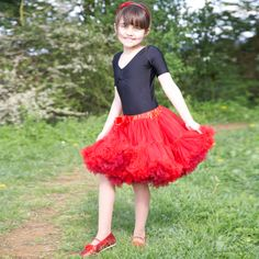 Travis Designs - red and burgundy pettiskirt - frothy tutu - ages 3-13 yrs