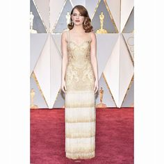 From golden girl Emma Stone's Givenchy gown to Brie Larson's old-school Hollywood glamour take a look at our round-up of the best-dressed stars at last night's Oscars  (see link in bio)  via GRAZIA UK MAGAZINE OFFICIAL INSTAGRAM - Fashion Campaigns  Haute Couture  Advertising  Editorial Photography  Magazine Cover Designs  Supermodels  Runway Models