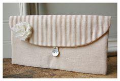 Brown Wedding Clutch Rustic Bridesmaid Clutch by hoganfe on Etsy, $19.00