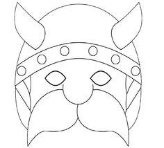 masque gaulois a colorier découpage a imprimer