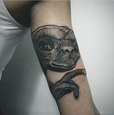 E.T. from Evgeny Mel #inked #inkedmag #tattoo #ET #alien #art #idea