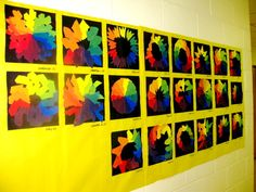 4th grade color wheels, used only primary colors to make all the colors