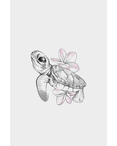 Turtle ✻ eeek so excited to tattoo this today!You can find Tattoo drawings and more on our website.Turtle ✻ eeek so excited to tattoo this today! Realistic Flower Drawing, Cute Flower Drawing, Easy Flower Drawings, Pencil Drawings Of Flowers, Easy Drawings, Cute Small Drawings, Cute Turtle Tattoo, Turtle Tattoo Designs, Sea Turtle Tattoos