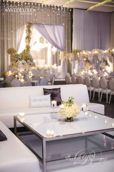 all white wedding or dinner party