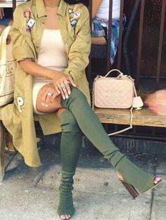 Thigh High Boots | OTK Boots | Open toe | Trench Coat | Chanel | Quilted Bag | Fall Fashion | Urban | Fashion Killa   <3 @benitathediva