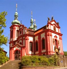 The church of the Assumption of the Holy Virgin Mary in Zlonice (Central Bohemia), Czechia Sacred Architecture, Virgin Mary, Pilgrimage, Czech Republic, Notre Dame, Group, Mansions, House Styles, Building