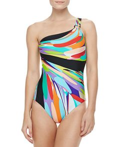 Prisma One-shoulder One-piece Swimsuit by Trina Turk at Neiman Marcus. $136