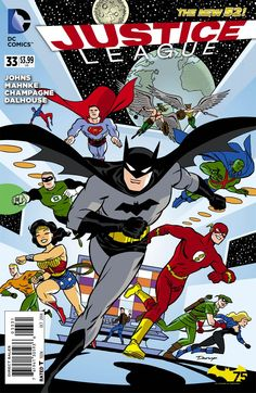 Justice League Vol 2 #33 Cover B Variant Darwyn Cooke Batman 75th Anniversary