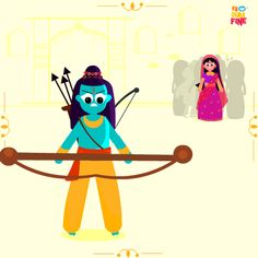 Since some of us in our offices were not able to attend the epic Ram Leela happening around , we decided to bring it to people instead . Presenting Ramayan in GIFS by Studio Ek Dum Fine. Every day we selected one of our favorite shots of Ramayan and up…