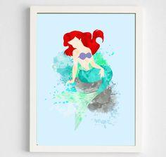 Disney Little Mermaid Ariel Poster Digital Art by geektragedy