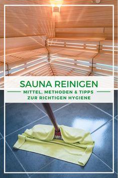 Sauna putzen: Erfahren Sie in unserem Beitrag, wie oft und mit welchen Reinigungsmitteln Sie Ihre Sauna zuhause reinigen sollten. Wir verraten zudem, welchen Unterschied das Sauna-Material für die Reinigung macht. Zusätzlich gibt es viele nützliche Tipps.  #Sauna #Reinigung #Putzen #Saunareinigen Sauna Wellness, Spa, Inspiration, Architecture, Material, Handy Tips, Cleaning Agent, Cleaning, Ad Home