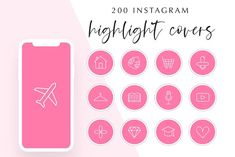 200 Instagram Story Highlight Covers by Hello Manhattan on @creativemarket Lash Curler, Mascara, Small Flags, Image Icon, Pet Paws, Needle Case, Paper Plane, Disco Ball, Story Highlights