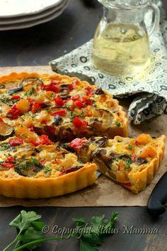 Crostata torta quiche salata di verdure antipasto secondo vegetariano facile…