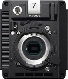 Sony HDC-P43 4K/HD, front view of camera body. Sony HDC-P43 4K/HD POV Camera for 4K Live Sports Production Workflow: Lightweight, Compact, Three-Chip 2/3 Inch 4K Image Sensor, 2x Slow-Motion at 4K, and 8x Super-Slow Motion in HD http://www.photoxels.com/sony-hdc-p43/