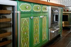 painted cabinets Google Image Result for http://www.fauxology.com/wp-content/uploads/2012/07/Cabinet-Refinishing-on-Kitchen-Island-in-Green-Color.jpg