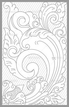 Bali Floral Set  #GraphicRiver         vector drawing of bali traditional floral…