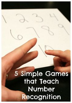 5 simple games to teach number recognition to preschoolers