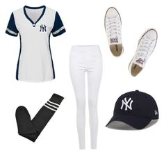 """Baseball Costume"" by naticar on Polyvore featuring Converse"