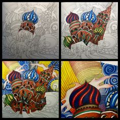 The 'process' while colouring :)