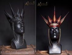 Handmade Leather crowns with tooled leatherworks by Aetherwerk on DeviantArt