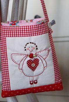 little stitchery angel bag by dutch blue, via Flickr