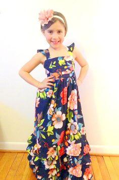 blossom ruffle maxi dress size 6/8 on Etsy, $75.00