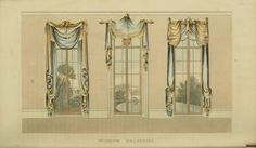 Ackermann's Repository. Window Draperies.
