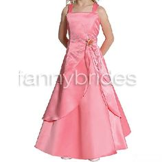 Beautiful Ball Gown Spaghetti Straps Sleeveless Ankle-length Layered and Flower Embroidery Taffeta Flower Girl Dress - Fannybrides.com