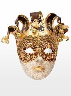 89,90€ Jolly stucco Craquele cuoio Venezianische Maske