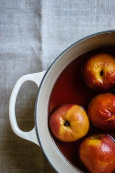10 in 20: Summer Fruit Recipes: Poached Peaches #theeverygirl