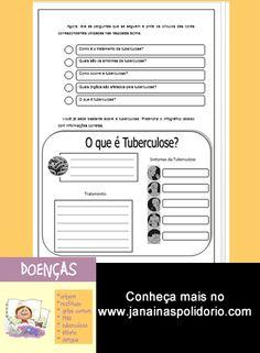 São 18 páginas de atividades prontas para imprimir e usar com gabarito ao final. Confira no http://www.janainaspolidorio.com/doencas.html