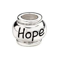 Kera® Sterling Silver 10mm Enameled Hope Expression Bead