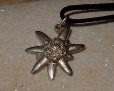 Edelweiss Pendant Sterling Silver Jewelry by cococlimb on Etsy, $30.00