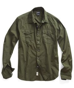 Dante Military Shirt in Olive