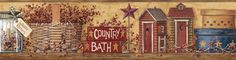 Vinilo decorativo Cenefa Country Bath