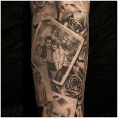 – Tatoo for Noel Potrait Tattoo, Portrait Tattoo Sleeve, Sleeve Tattoos, Family Tattoos, Mom Tattoos, Body Art Tattoos, Watch Tattoos, Kunst Tattoos, Bild Tattoos